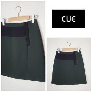 🇦🇺 CUE AUSTRALIA Emerald Green Retro Skirt